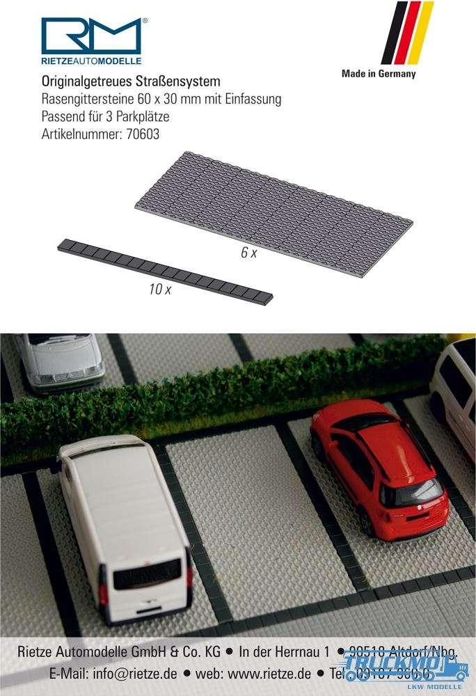 Rietze Rasengittersteine 60x30mm 6 Parkplätze 70603