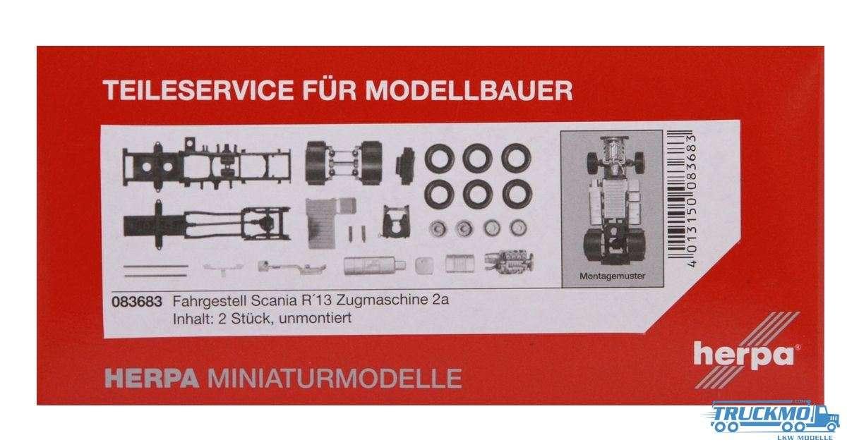 Herpa Fahrgestell Scania R 13 Zugmaschine Inhalt: 2 Stk. LKW Modelle