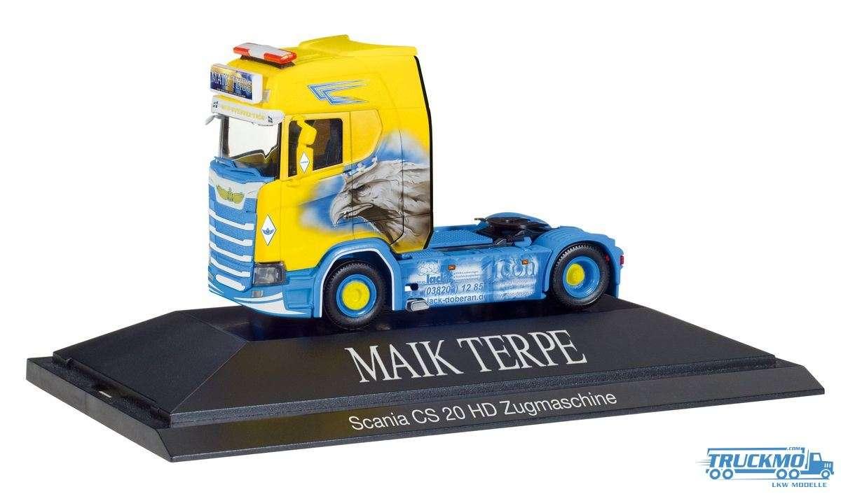 Herpa Maik Terpe LKW Modell Scania CS 20 HD Zugmaschine 110914