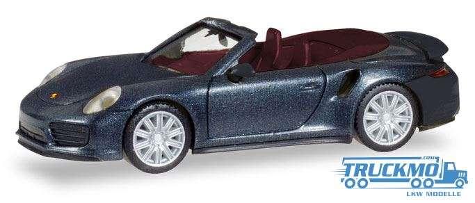 Herpa Porsche 911 Turbo Cabriolet, tiefschwarzmetallic 038928