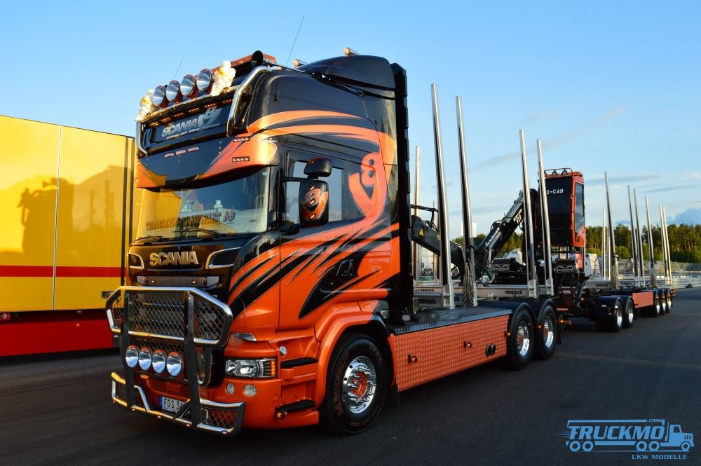 Tekno Timmerline Transport Scania R730 Holztransporter