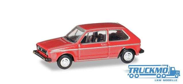Herpa VW Golf I marsrot 066617 1.120