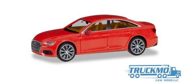Herpa Audi A6 ® Limousine feuerrot mit zweifarbigen Felgen 430678