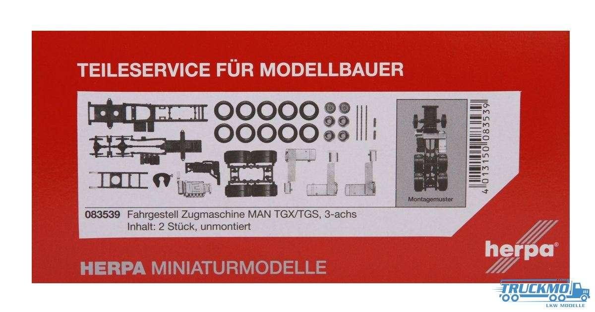 Herpa Zugmaschinen-Fahrgestell MAN TGX/TGS 3-achs Inhalt: 2 Stück LKW-Modelle