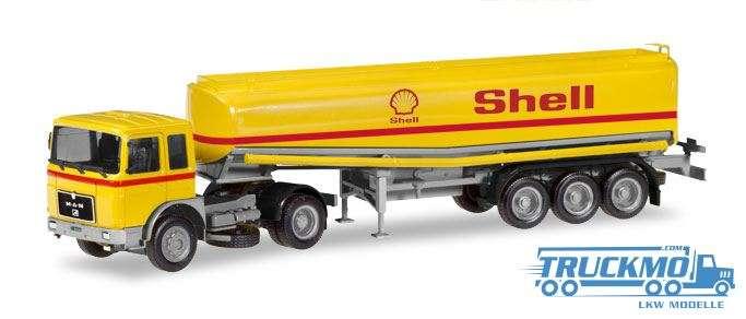 Herpa Shell MAN F8 Benzintank-Sattelzug 309271