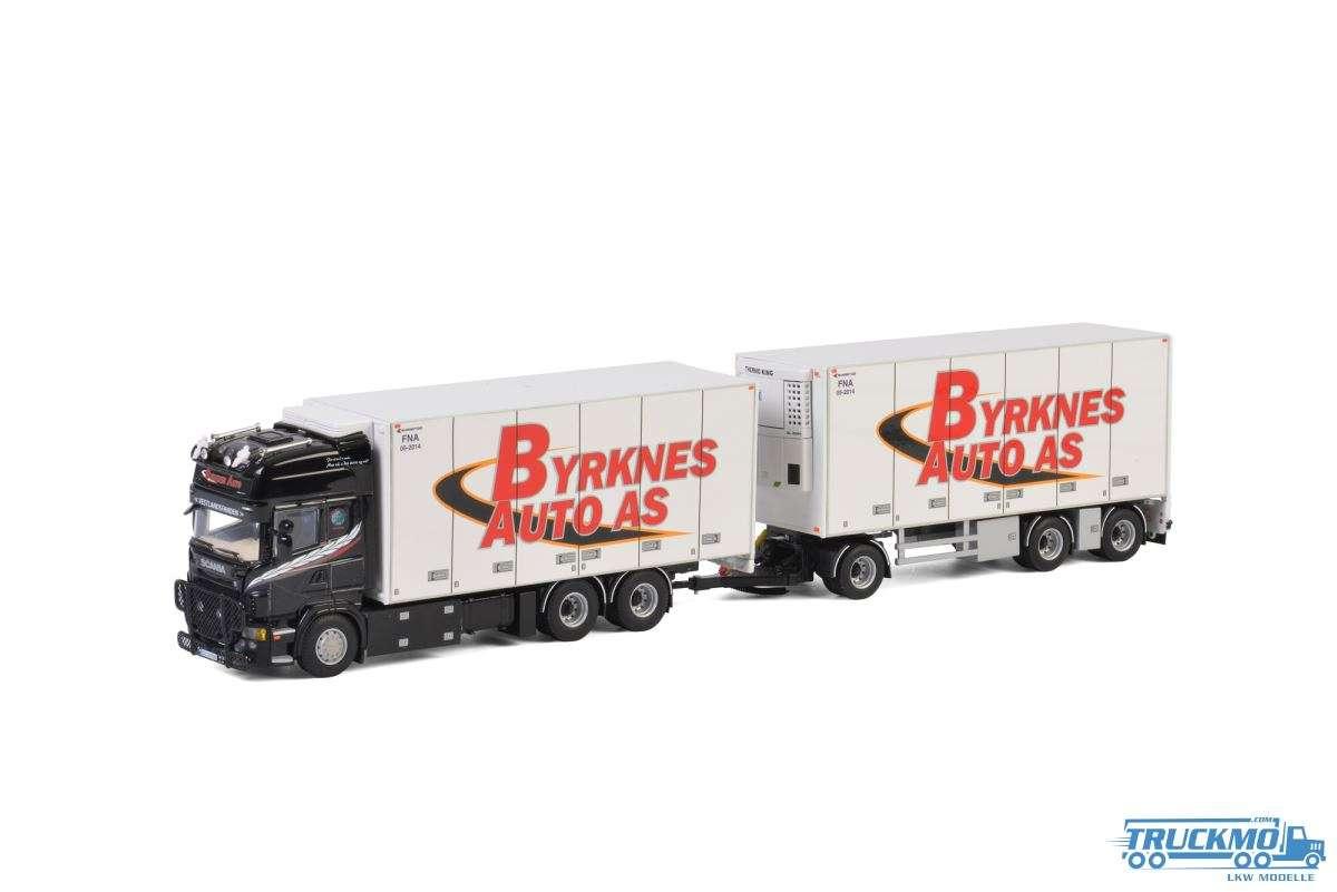 WSI Byrknes Auto AS Scania R5 Topline Kühlkoffer Hängerzug 01-2629