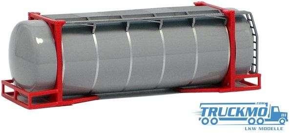 AWM 26ft. Tankcontainer grau mit Spannringen Rahmen rot 490082