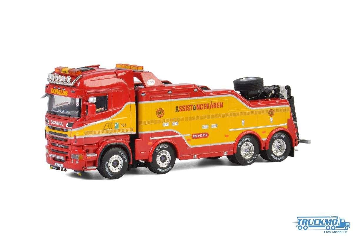 WSI Assistancekaren (Donalds Bilbärgning) Scania R6 Highline Wrecker Abschlepper 4 Achs 01-2730
