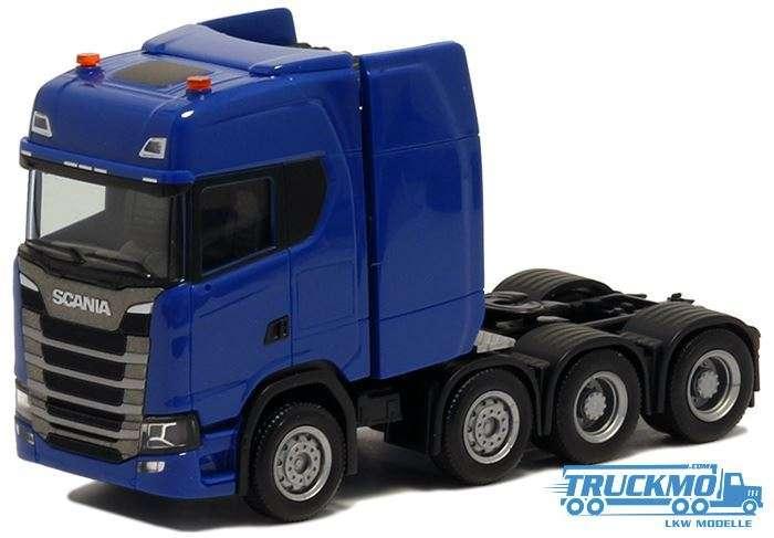 Herpa Scania CS 20 HD Schwerlastzugmaschine 4achs blau 580623