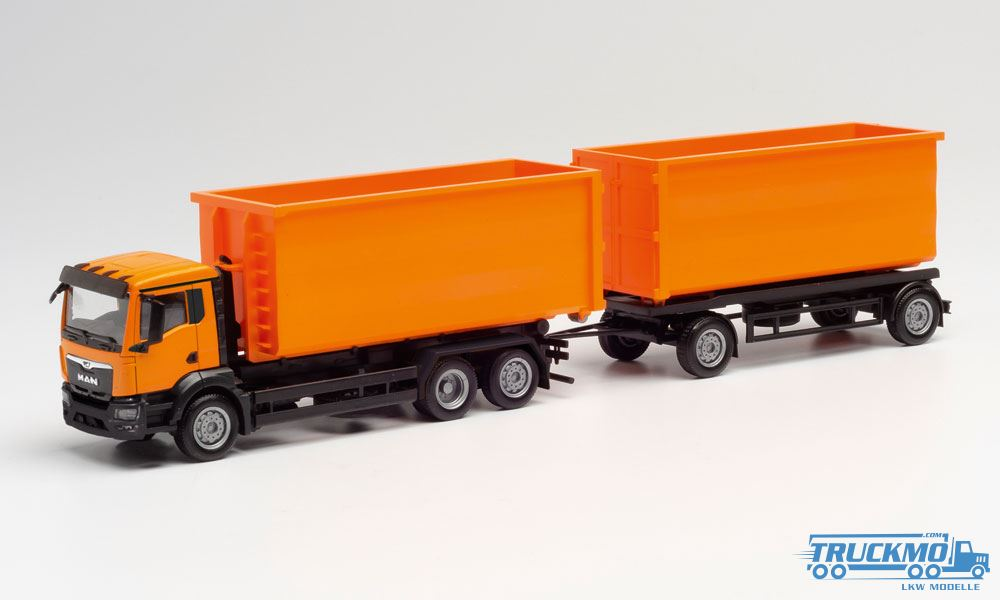 Herpa MAN TG-X XLX Abrollcontainer-LKW Feuerwehr Essen 092379