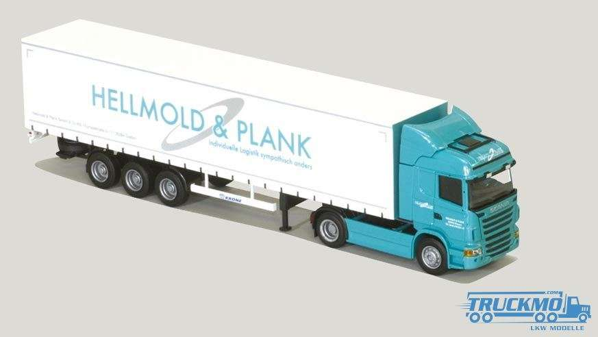AWM Hellmold & Plank Scania R09 Highline Planenauflieger 74999