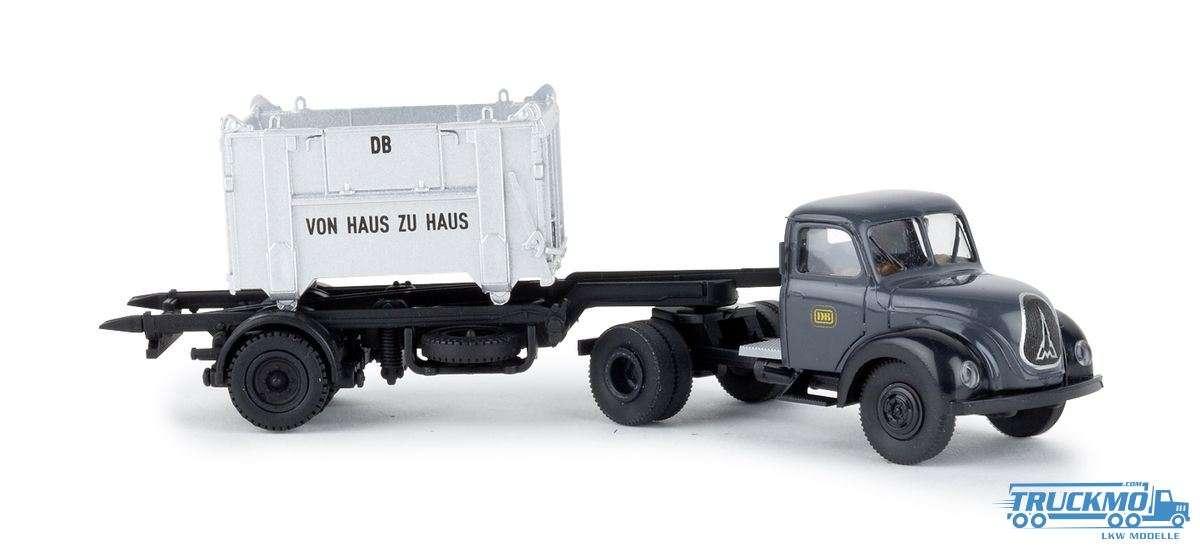 Brekina DB Magirus Mercur Sattelzug offener Container 42266