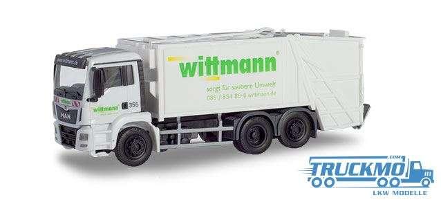 Herpa Wittmann MAN TGS M Euro 6 Pressmüllwagen 936644