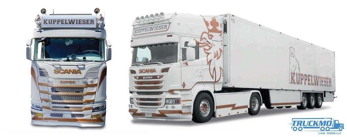 Herpa Kuppelwieser Scania CS 20 HD Kühlkoffer Sattelzug 938969 *Foto abweichend