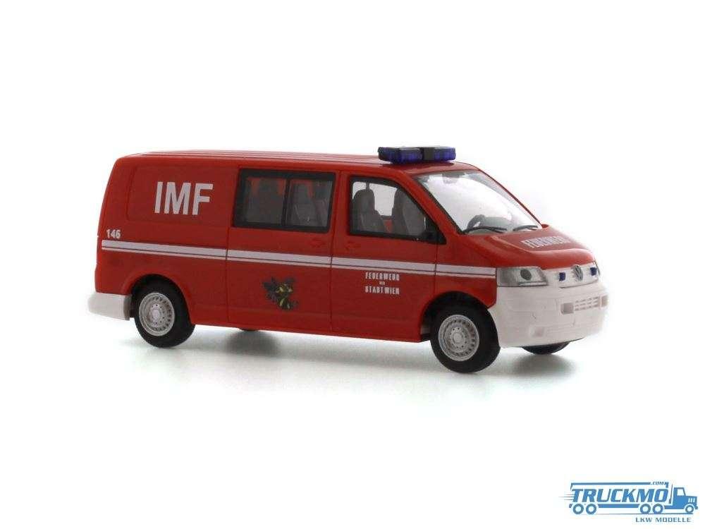Rietze Feuerwehr Wien IMF Volkswagen T5 Halbbus LR FD 51875