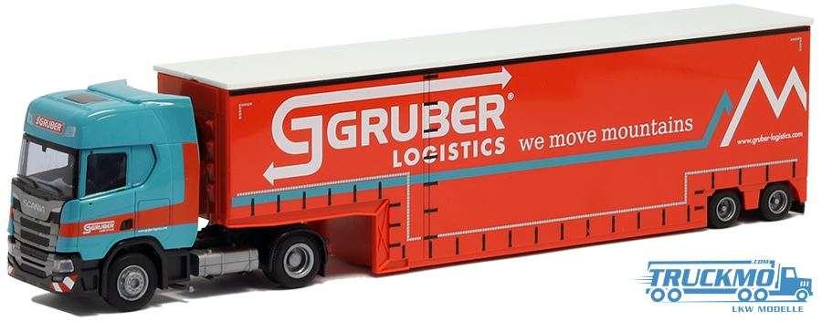 AWM Gruber Scania R Tiefbett-Auflieger 9292.41