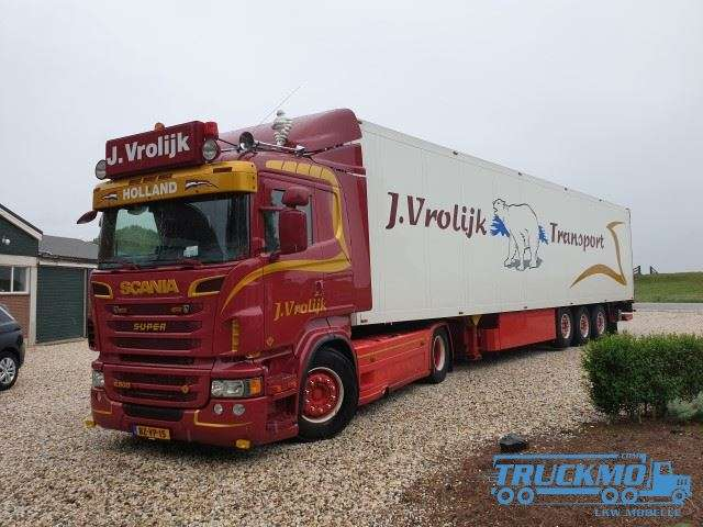 Tekno Vrolijk Scania R Serie R500 Kühlauflieger 81154