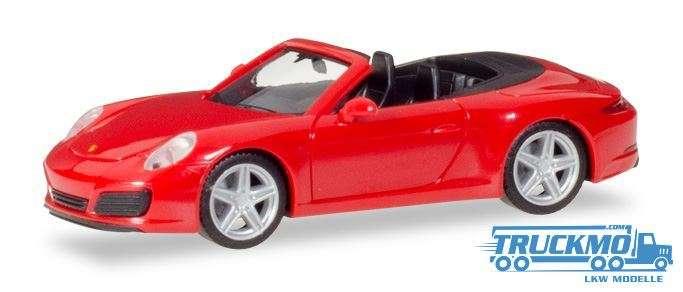 Herpa Porsche 911 Carrera 2 Cabrio indischrot 028844