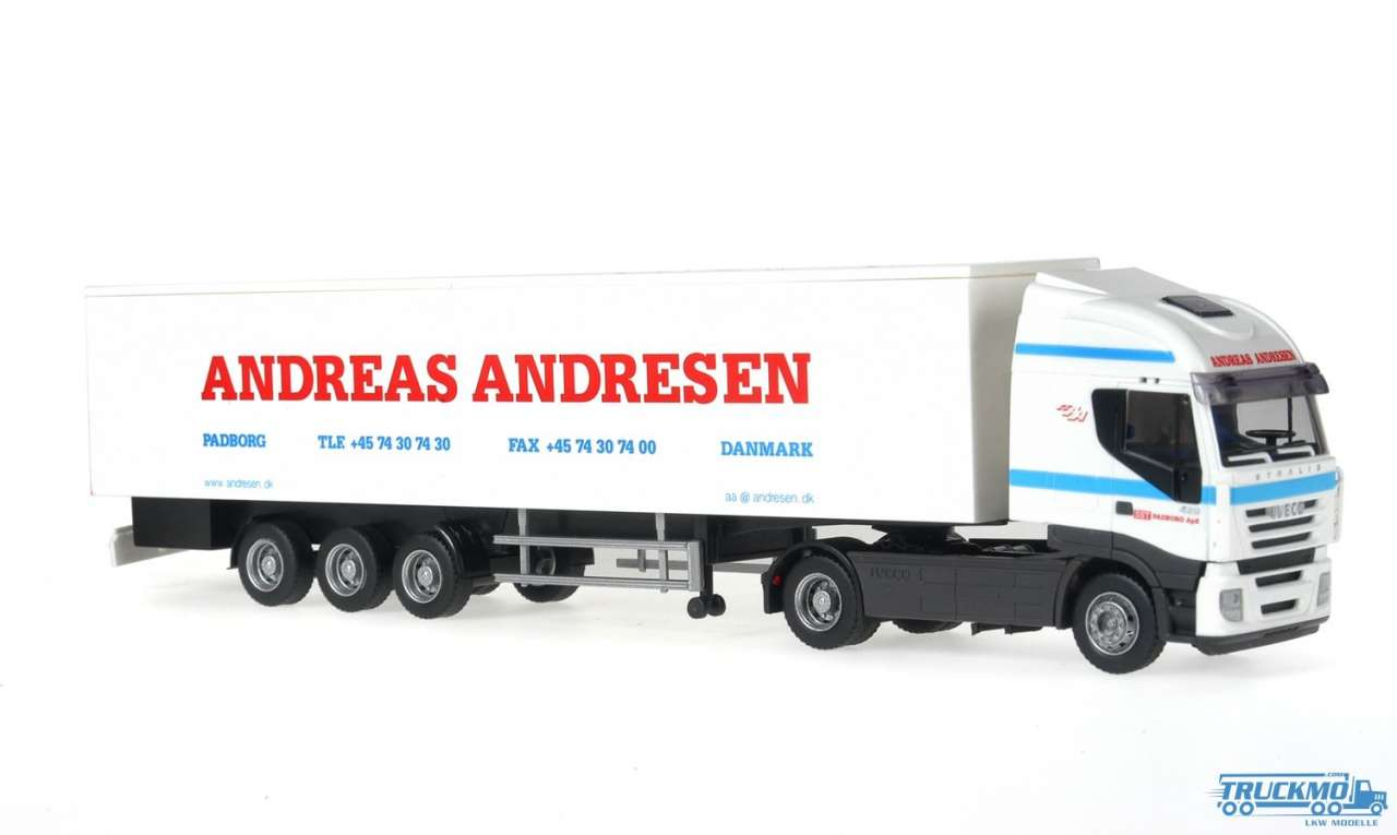 Rietze Andreas Andresen Iveco Stralis Kofferauflieger 60884