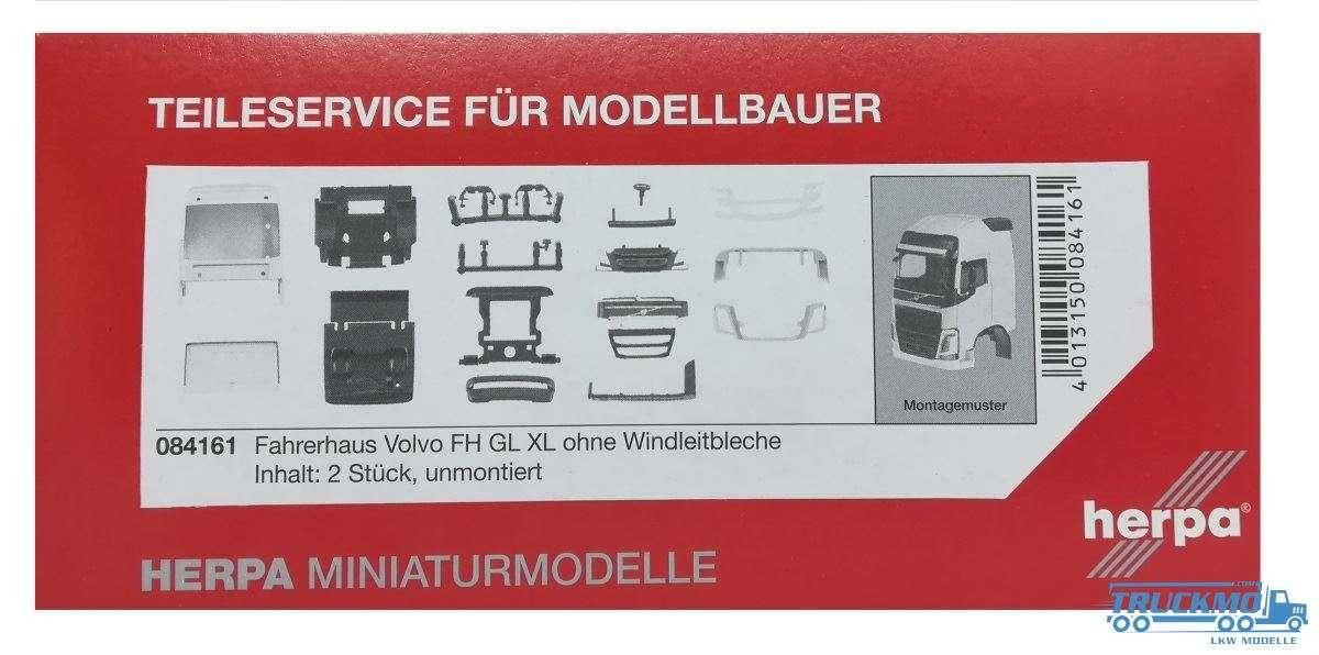 Herpa Volvo FH GL XL Fahrerhaus ohne Windleitblech Inhalt: 2 Stück LKW Modell