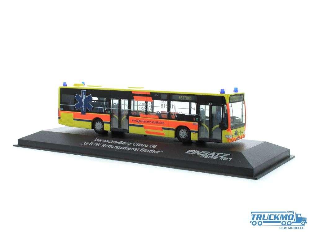 Rietze Modelle Ambulanz Stadler Mercedes Benz Citaro E4 69902