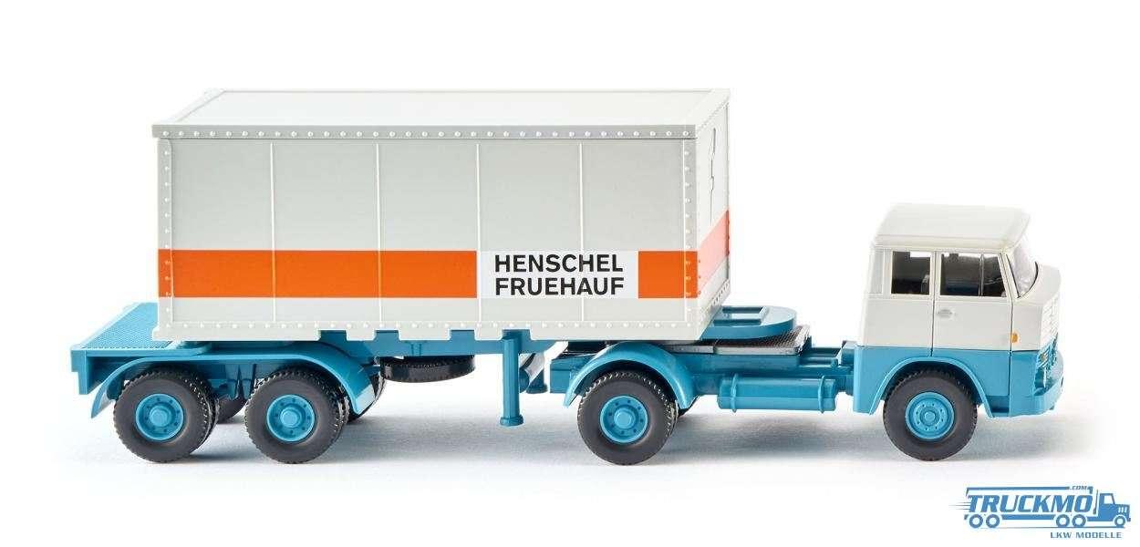 Wiking Henschel Fruehauf Henschel HS 14/16 Containersattelzug 20´ 052601