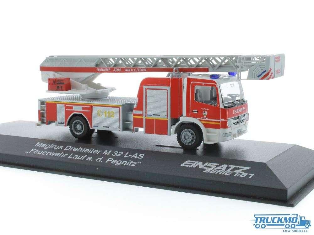 Rietze Feuerwehr Lauf an der Pegnitz Mercedes Benz Atego Magirus DLK 68560