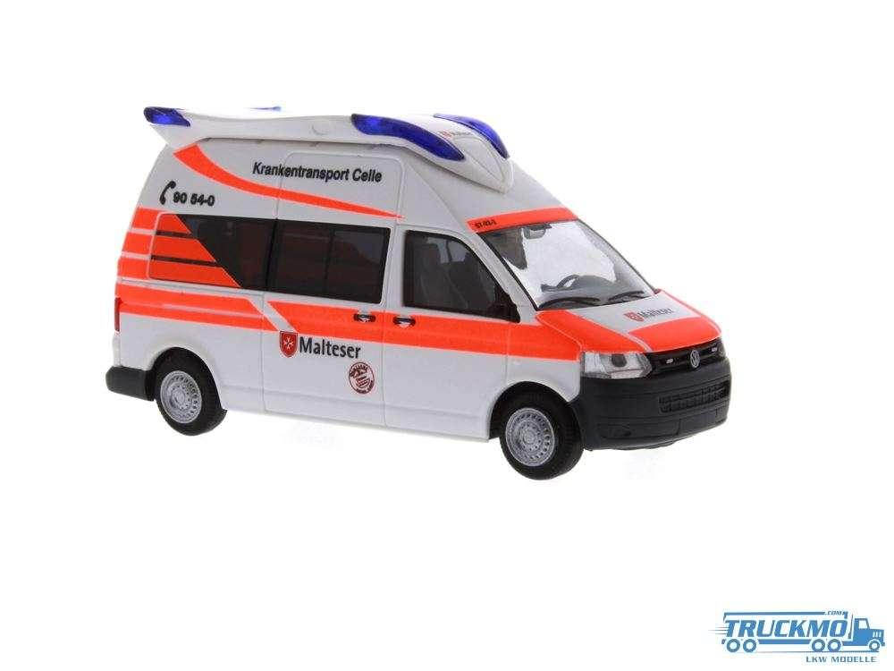 Rietze Malteser Celle Volkswagen T5 GP Hornis Blue 53620