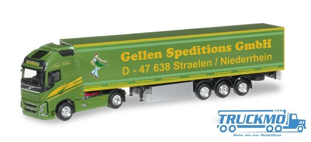 Herpa Gellen Speditions GmbH Volvo FH GL XL Kühlkoffer-Sattelzug