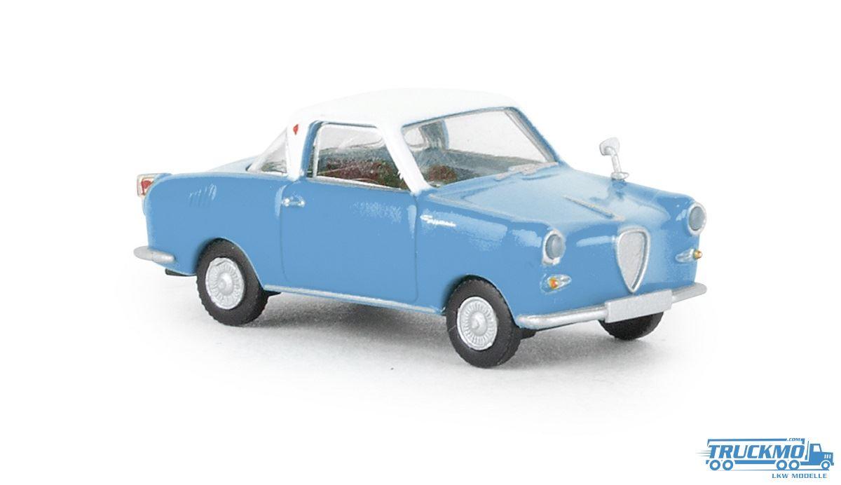 1//87 Brekina Goggomobil Coupe pastellblau//weiß 27850