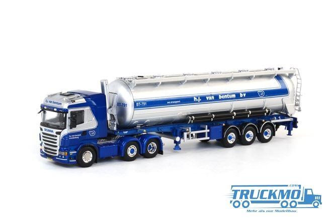 WSI H.J. van Bentum LKW Scania R Highline Siloauflieger Modell