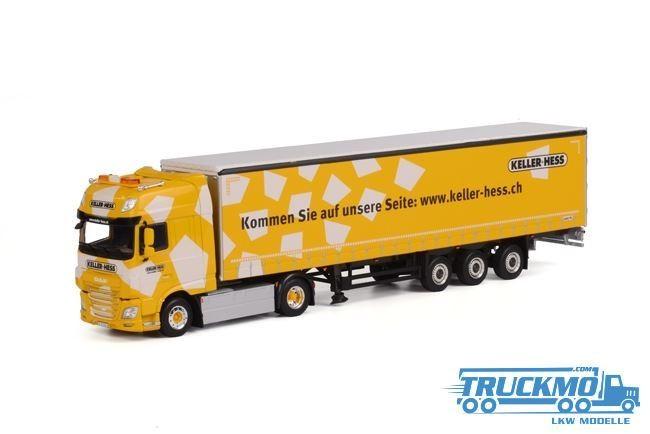 WSI Keller + Hess Lkw DAF XF SSC Planenauflieger Modell