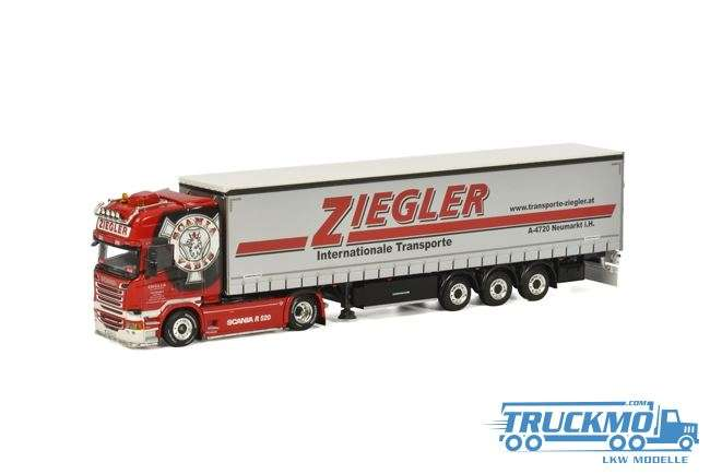 WSI Ziegler Scania R Streamline Topline V8 Planenauflieger 02-2006