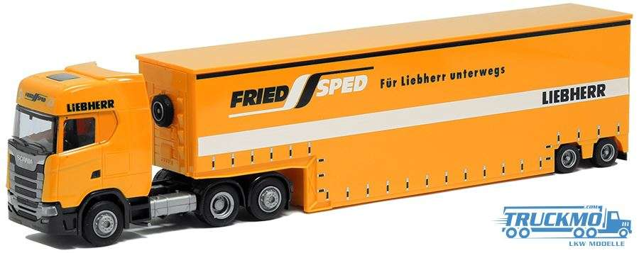 AWM Fried Speed Scania S Aerop Low bed semitrailer 75631