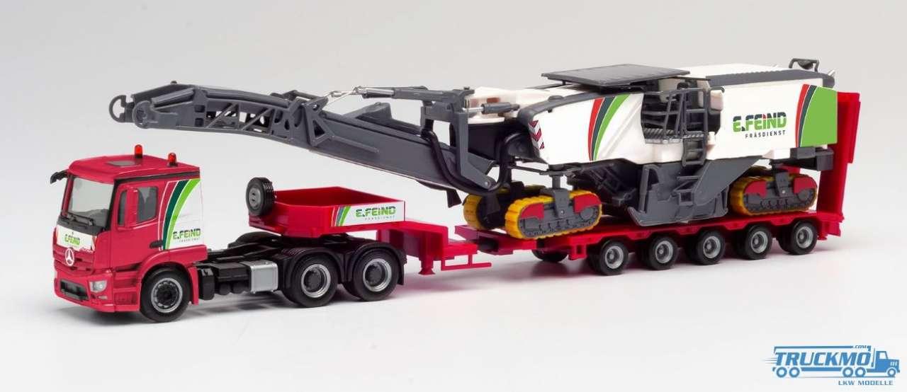 Herpa 311700-1//87 mercedes-benz actros profundo de carga-SZ con Wirtgen asphaltfräse