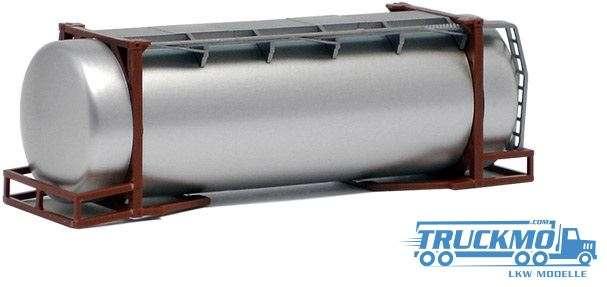 AWM 26ft. Tankcontainer silber lackiert Rahmen braun 490083