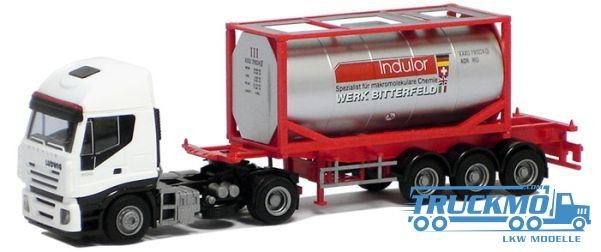 AWM Ludwig / Indulor LKW Iveco Stralis ll 20' Tankcontainer Sattelzug Modell