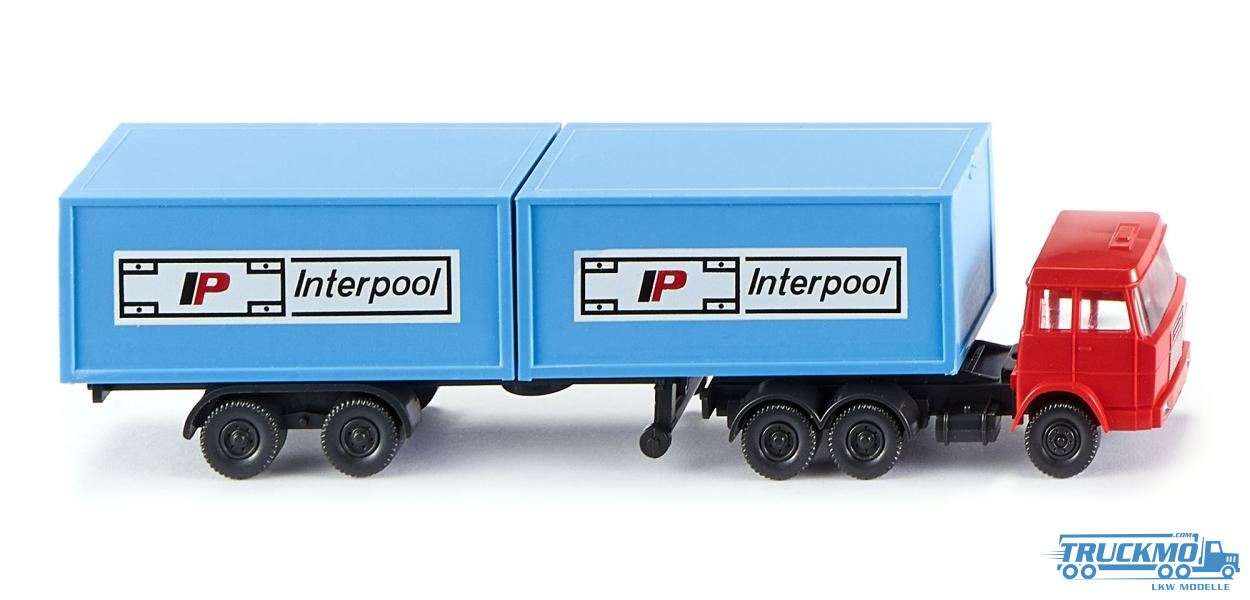 Wiking Interpool Henschel Containersattelzug 095002
