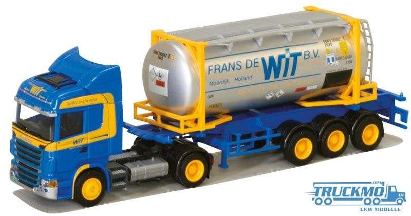 AWM Frans de Wit LKW-Modell Scania 09 Highline Tankcontainersattelzug 74980