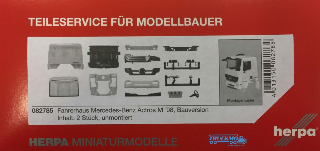 Herpa Mercedes Benz Actros M 08 Fahrerhaus Bauversion mit Sonnenblende (inkl. Spiegel) Inhalt: 2 Stü