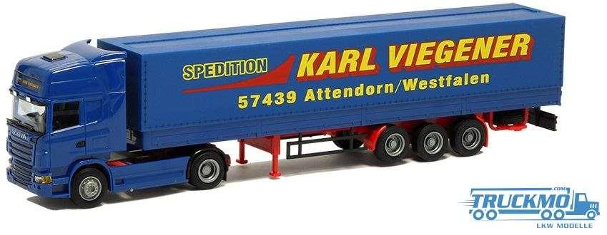 AWM Viegener Scania R09 Topline Planenauflieger 74973