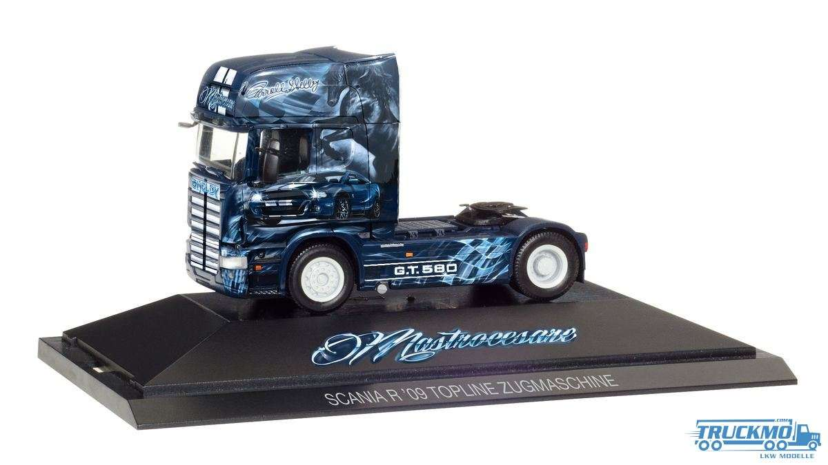 Herpa Shelby GT 580 / Spedition Mastrocesare Scania R V8 TL Zugmaschine 110907