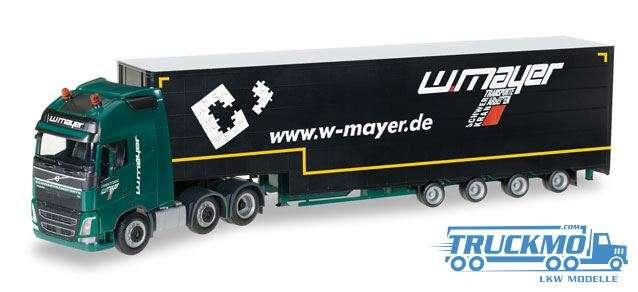 Herpa Mayer Zweibrücken LKW Modell Volvo FH Gl. XL Meusburger-Sattelzug 306805