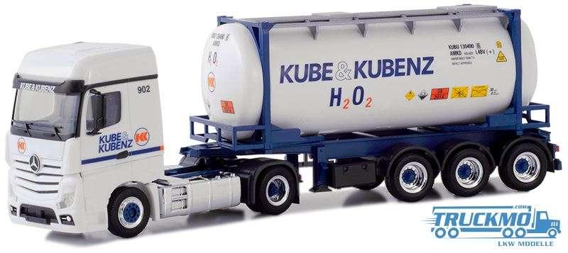 Herpa Kube & Kubenz Mercedes-Benz Actros Container-Sattelzug 935593