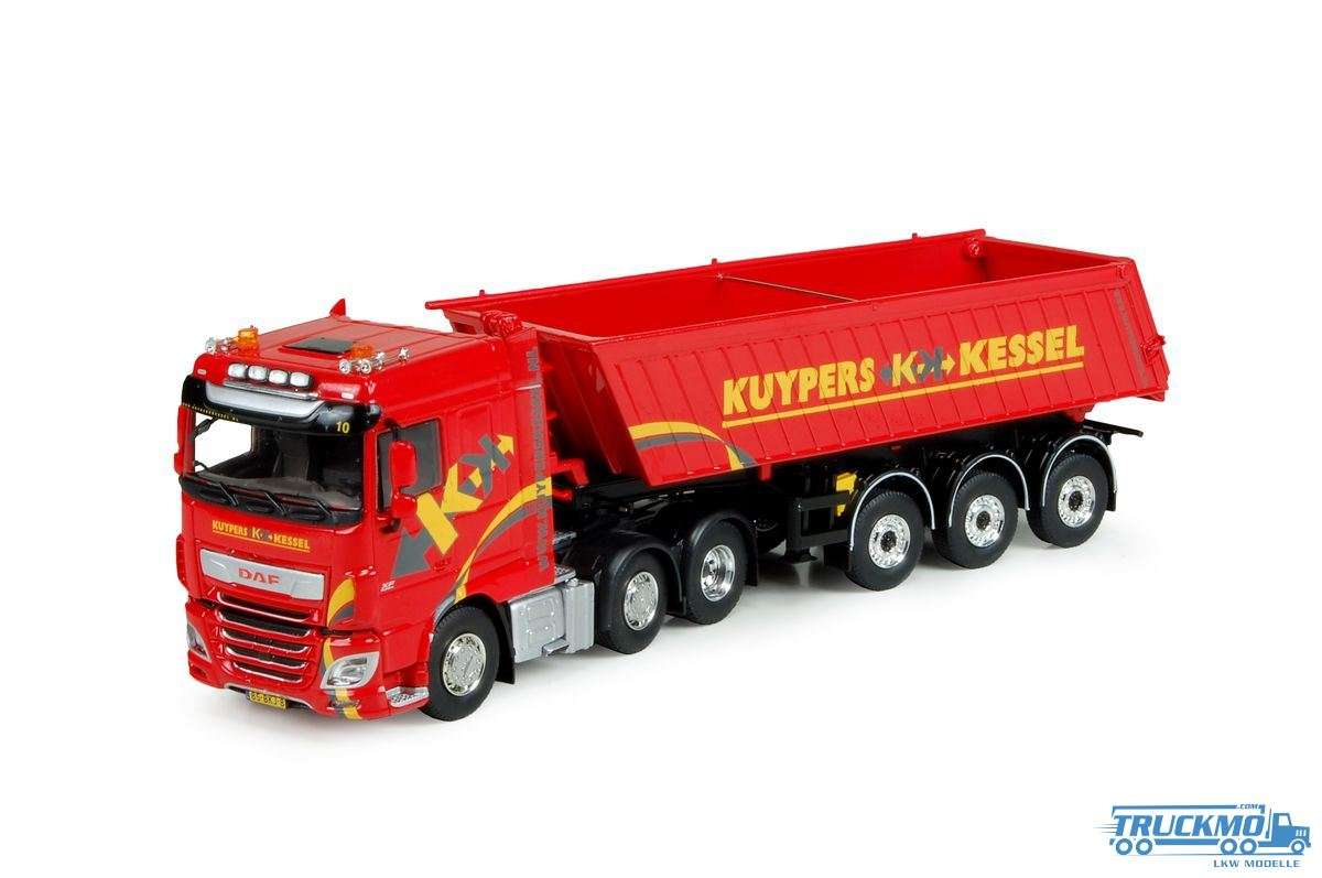 Tekno Kuypers LKW Modell DAF XF Euro 6 Space Cab mit Meiller Kipper 74308