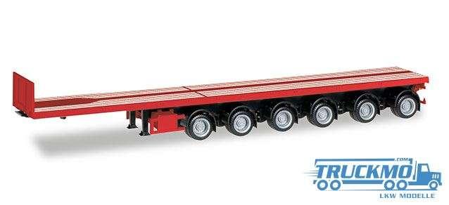 Herpa Nooteboom Ballasttrailer sechsachsig verkehrsrot 076715-003