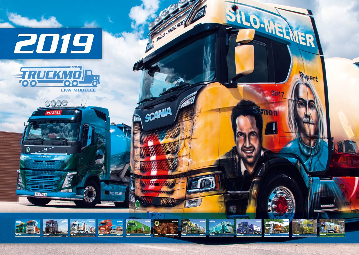 truckmo lkw kalender 2019 a3 querformat truckmo truckmo. Black Bedroom Furniture Sets. Home Design Ideas