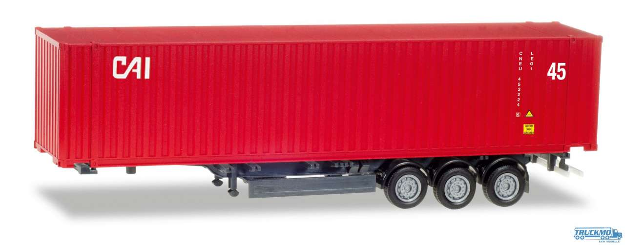 Herpa CAI 45 ft. Container-Auflieger 076791