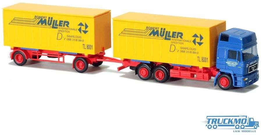 AWM Müller MAN F2000 HD Wechselkofferhängerzug 75821