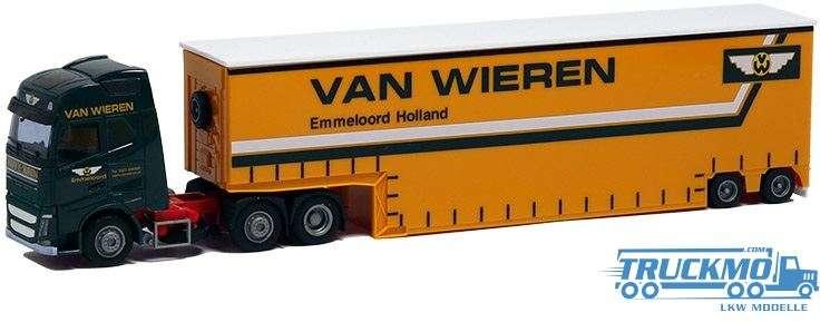 AWM Van Wieren LKW Modell Volvo 12 Glob. Aerop. Tiefbett Sattelzug 8972.42